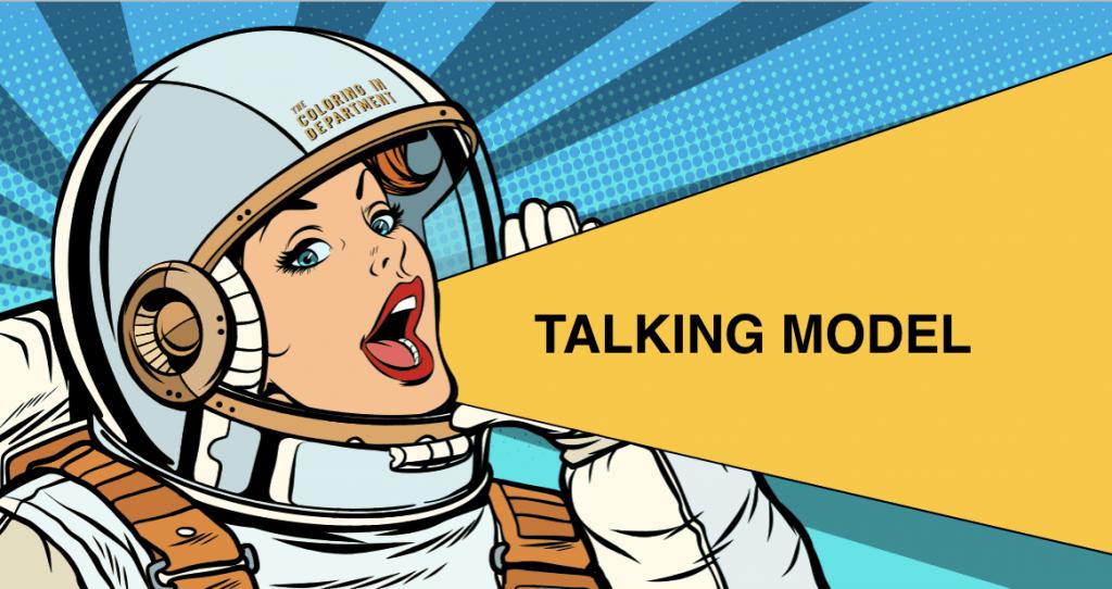 TALKING MODEL social media strategy