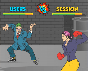 users v sessions google analytics