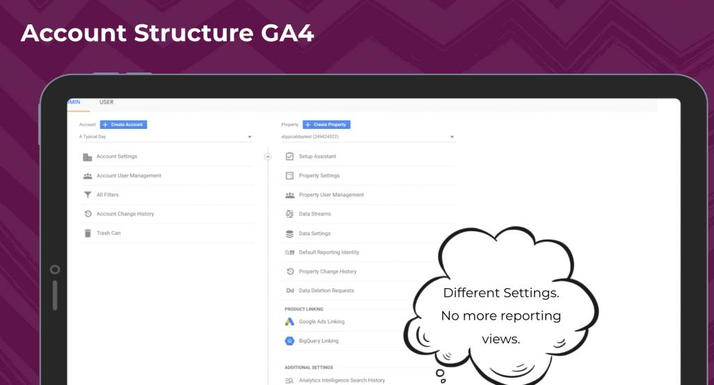 account structure ga4